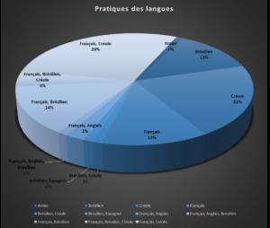 Détail des langues parlées par les bénéficiaires de DAAC